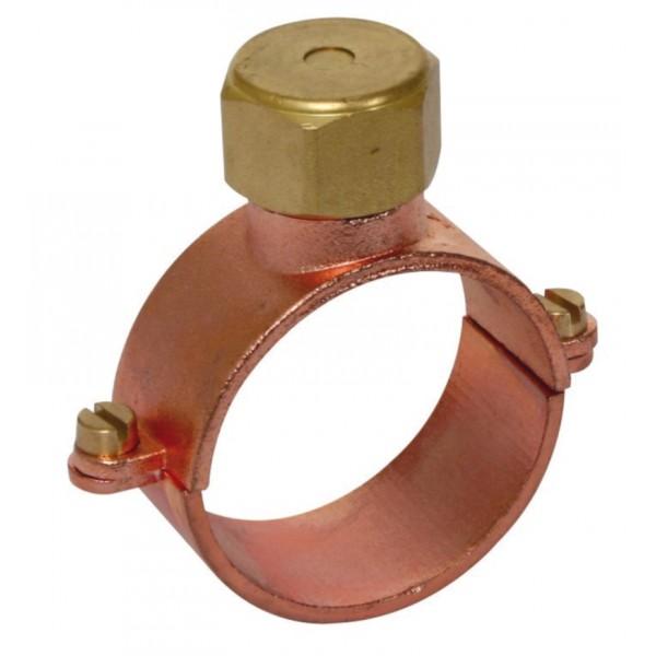Collier de mise la terre sur cuivre mutec france - Collier de fixation plomberie ...