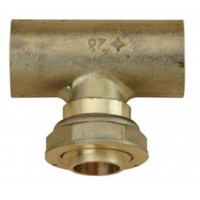 Té droit 90° 6/20 x Cu 28 compteur gaz pour colonne montante