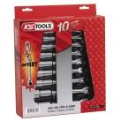 Boite de 9 clé à pipe 6 pans de 8 à 19 mm KS TOOLS