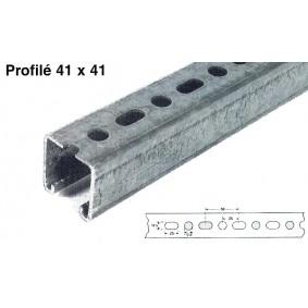 Rails de montage 41/41 2,5 lg.3 mt