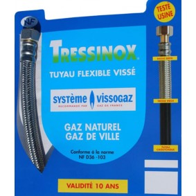 Flexible Gaz Naturel TRESSINOX 10 Ans 0.75 m
