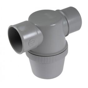 Siphon lavabo PVC-C Horizontale à coller diam.40 couleur Gris - NICOLL