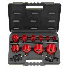 Coffret de 10 scies cloches HSS bi-métal - KS TOOLS