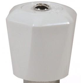 """Volant Blanc pour Robinet radiateur """"SR"""" RAVANI 3/8"""" et 1/2"""""""