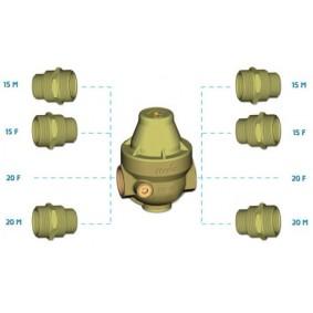 """Réducteur de pression ISOBAR+ avec raccords Multifiletés Composite 3/4"""" NF"""
