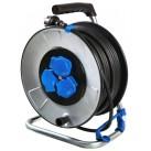 Enrouleur électrique sur Tambour 40 mt - Câble 3G2,5 mm - Schwabe