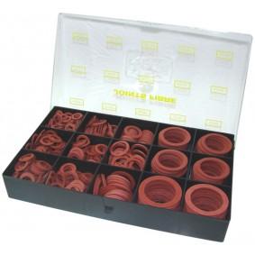 Coffret de 295 Joints fibre CSC raccord standard chauffage, air, huille et fuel.