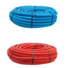 Couronne 50 mt Tube PER Prégainé 10x12 Bleu