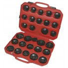 Coffret 35 Piéces de cloches pour filtre à huile + clé 3 bras  - KS TOOLS