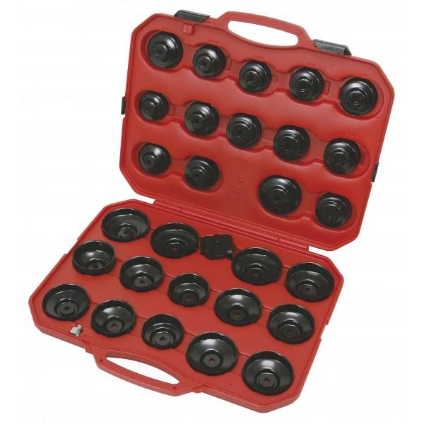 coffret 35 pi ces de cloches pour filtre huile cl 3 bras ks tools mutec france. Black Bedroom Furniture Sets. Home Design Ideas