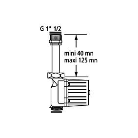 """Kit de Rallonge pour Circulateur 1""""1/2 de 40 à 125 mm"""