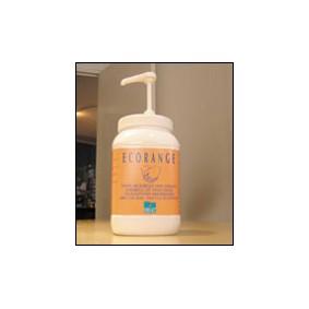 Bidon de 3 litres Savon microbilles ECORANGE ss solvant avec pompe.