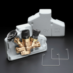 "Robinet d'équilibrage thermostatique OVENTROP ""Aquastrom T plus"" DN15 1/2"" avec coque et thermomètre"