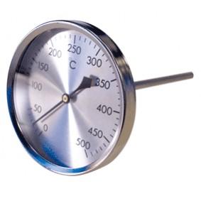 Thermomètre Gaz et Fumées 0-500°C diam.80 sonde 150 mm