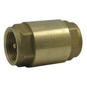 "Clapet Anti-retour FF 1/2"" Axe laiton, Disque et Ressort Inox - ACS"