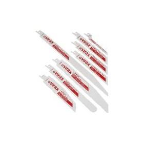 Boîte 5 Lames de scies Sabre bois avec clous, métaux 3-10 mm & PVC lg.150 mm -  VIRAX