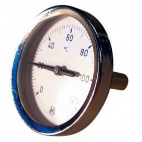 "Thermomètre plongeur AXIAL 0-120°C 1/2"" diam.100 Lg.200 mm"