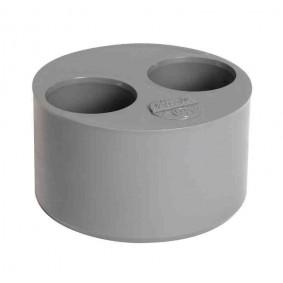 "Tampon Double PVC NF ""Nicoll"" MF diam.100/40/32"