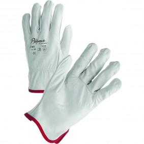 Paire de Gants PRIME Blanc Cuir fleur de vachette 3132 Tailles 8 (B12)