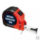 Mètre à ruban TRACEUR marquage Noir 5 mt 25 mm - WILMART
