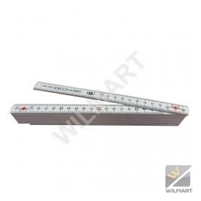 Mètre pliant composite 2 mt Blanc - WILMART