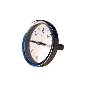 "Thermomètre plongeur AXIAL 0-120°C 1/2"" diam.63 Lg.45"