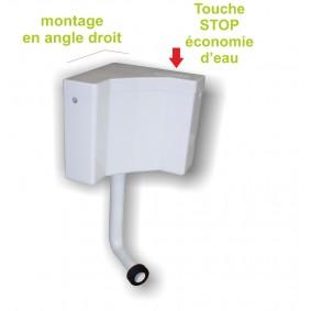 Réservoir d'Angle WC Blanc semi-bas
