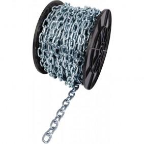 Bobine de 75 mt Chainette Acier zingué fil.4,0 mm - DIN 5685C