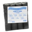 Sachet 12 tampons laine Acier GEB