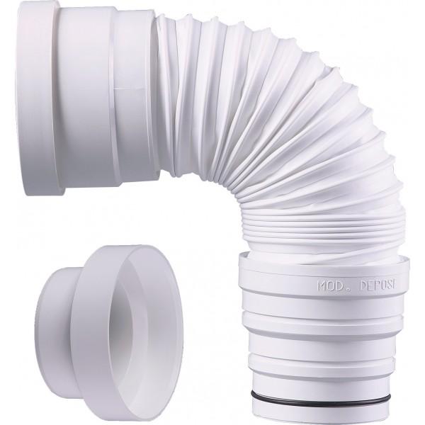 pipe wc extensible souple de 260 440 110 mutec france. Black Bedroom Furniture Sets. Home Design Ideas