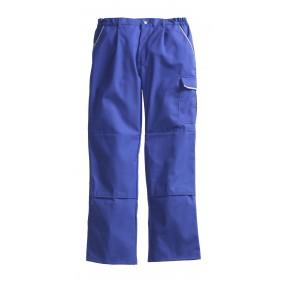 Pantalon de travail PIONIER Top Coton Image Bleu Royal/Gris Clair Taille 44 - E.J. 90